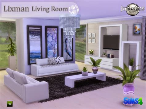 Livingroom Tiles by Jom Sims Creations Lixman Livingroom Sims 4 Downloads