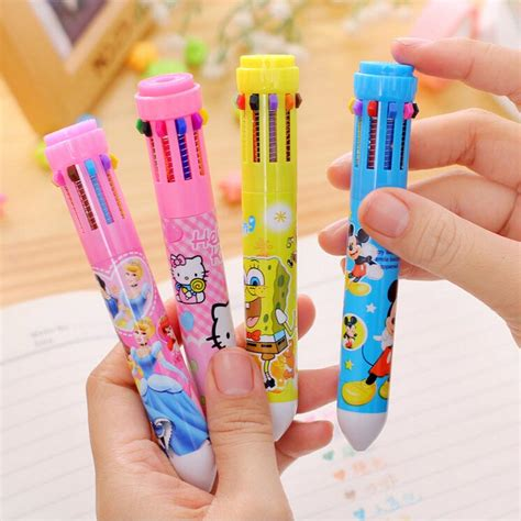 10 in 1 multi color pen pena ballpoint multi warna 10 in 1 multi color