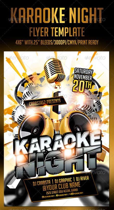 Graphicriver Karaoke Night Flyer Template Graphicriver Iii Flyer Template