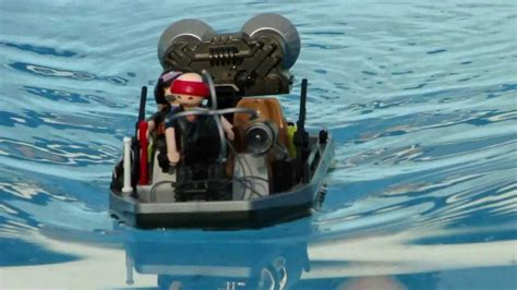 playmobil secret agent boat playmobil 5 boats barcos bateaux the test youtube