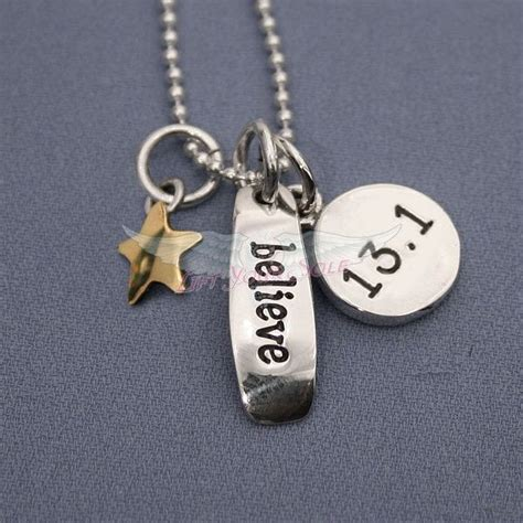 17 best images about 13 1 half marathon necklaces on