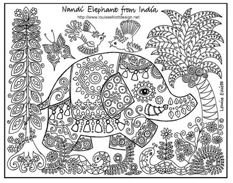coloring pages animals patterns download