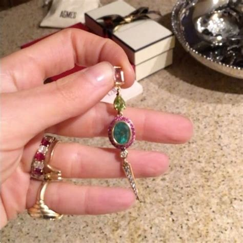 leandra medine s oval cut ruby and ring the