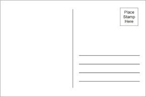 printable postcard template postcard template free printable and s