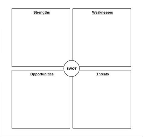 Swot Analysis Template 51 Free Word Excel Pdf Free Swot Analysis Template Word