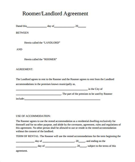 free rental agreement template pdf sle rental agreement template 10 documents in pdf