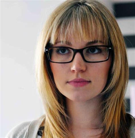Medium Hairstyles With Bangs And Glasses by 17 Best Images About Bangs With Glasses On