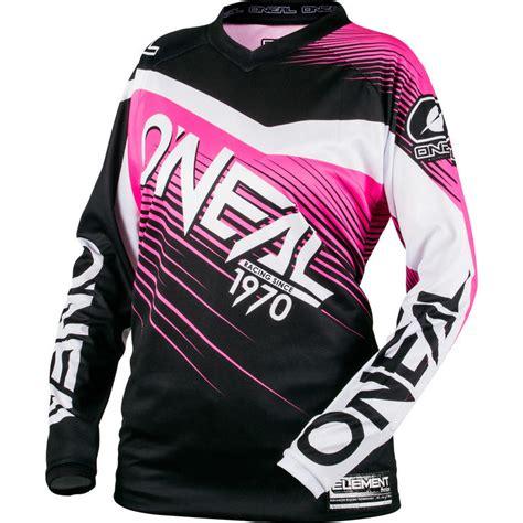 pink motocross jersey oneal element 2018 racewear motocross jersey