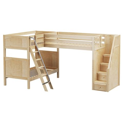 Bunk Bed With Loft Troika Corner Loft Bunk Bed Rosenberryrooms
