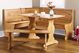 Corner Booth Kitchen Table Corner Furniture Table Bench Dining Set Breakfast Kitchen Nook Solid Pine Wood Breakfast Set