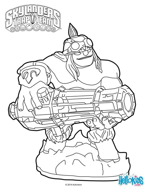 skylanders trap team wildfire coloring pages