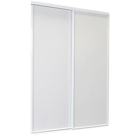 Closet Doors Sliding Lowes Shop Reliabilt White Flush Sliding Closet Interior Door Common 48 In X 80 In Actual 48 In X