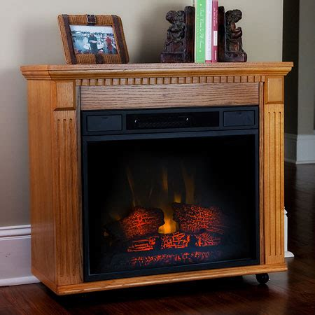 cumberland 23rm902oak amish style electric fireplace in