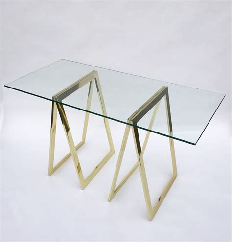 is brass coming back in style 2017 stylish brass sawhorse base desk galleria62