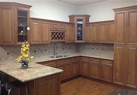 Coffee Maple Cabinets by 2y Model Coffee Glazed Maple Kitchen Display Traditional