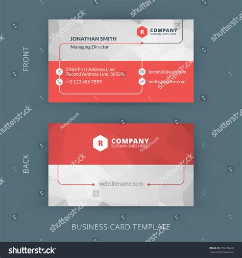 business card clean template design illustrator vector modern creative clean business card stock vector