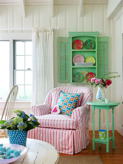 At The Cottage Decorating With - mix and chic cottage style decorating ideas