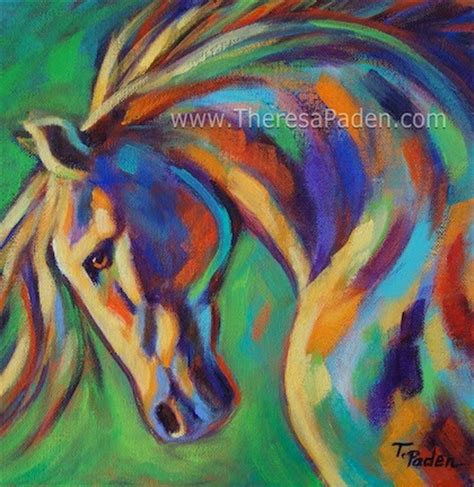 colorful horses paintings of horses bright colorful contemporary