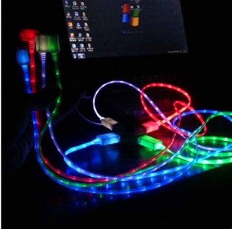 Kabel Micro Usb Retractable Led Smile 1 cheap price micro usb led light retractable charging data