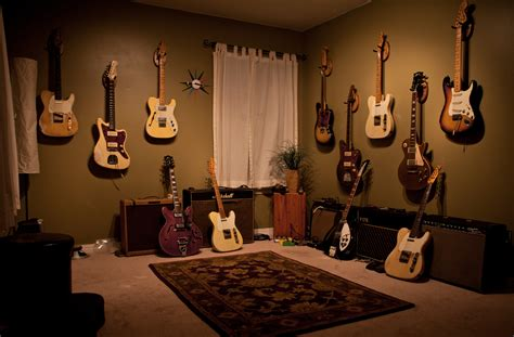 Home Musical by And Simple Clean Guitar Room Home Theater Practice Space