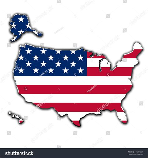 outline of usa map outline map united states america covered stock