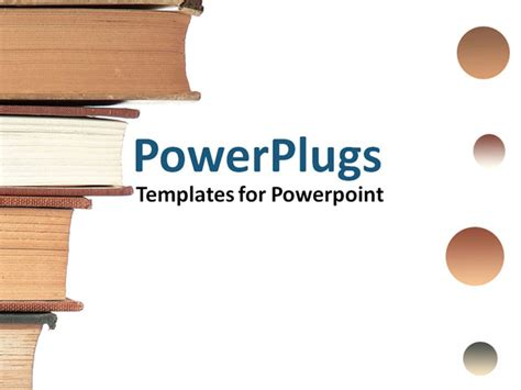 book powerpoint templates a stack of books with circles on the side powerpoint
