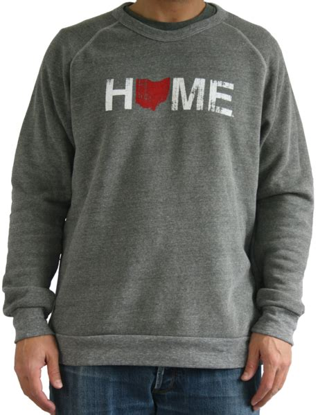 h s ohio crew neck s ohio home sweatshirt bop be ohio proud