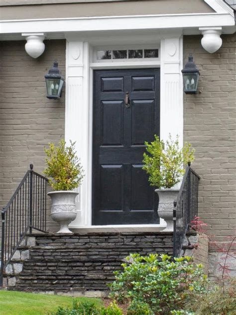 Black Front Door Curb Appeal Steal The Look Decorating Front Door Curb Appeal