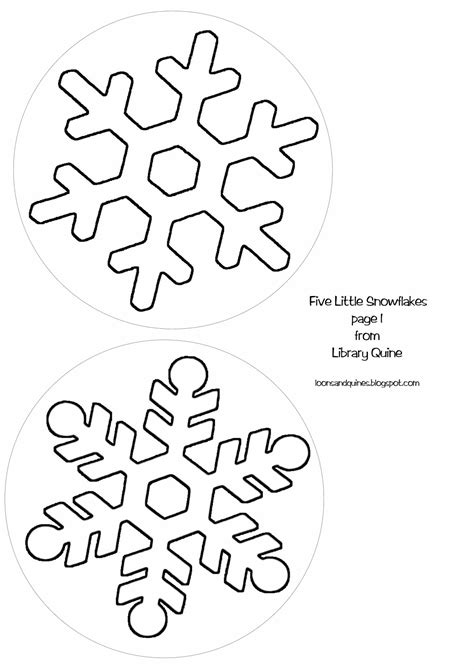 templates for snowflakes loons and quines librarytime flannel friday five