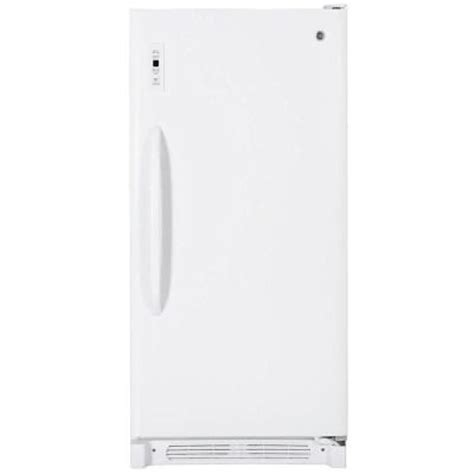 ge 13 7 cu ft free upright freezer in white