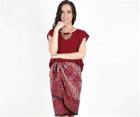 Rok Pesta Formal Model Rok Terkini Model Baju Batik