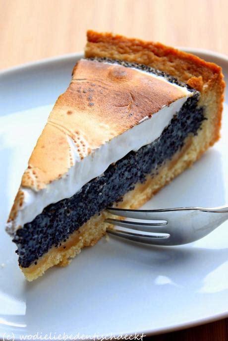 marzipan mohn kuchen mohn marzipan kuchen mit baiser
