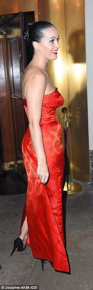 katy tea room katy perry oozes appeal in sultry gown with daring high split daily mail