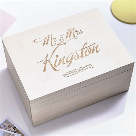 Wedding Usb Box Australia by Personalised Wedding Keepsake Box By