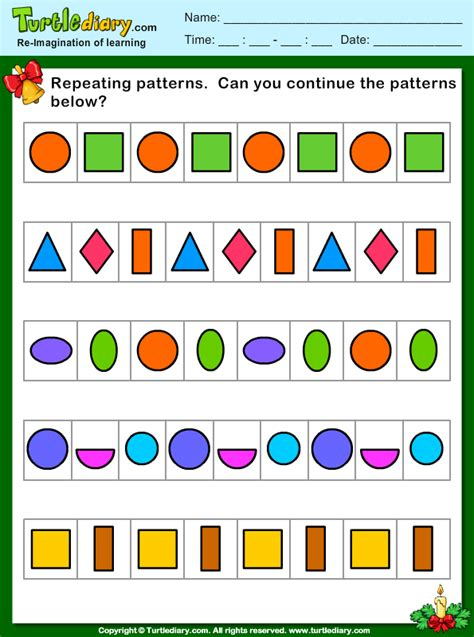 repeating patterns with 2 colours 4 worksheet activities repeating patterns worksheet free worksheets library