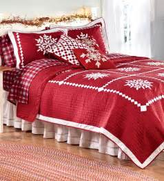 christmas quilt and sham