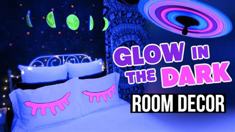 glow in the dark bedroom decor diy glow in the dark room decor tumblr inspired youtube