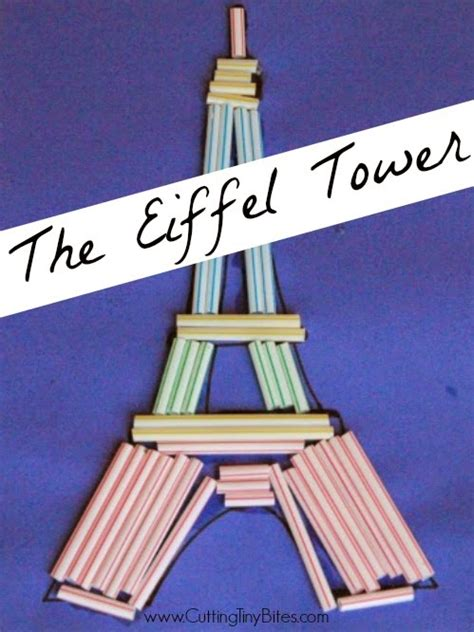 eiffel tower crafts for eiffel tower craft cutting tiny bites
