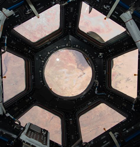 Cupola Iss by Photo Looking Back At The Space Station From Earth Wired