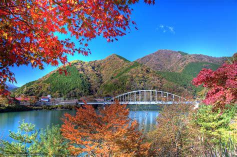 imagenes de japon en invierno tlcharger fond d ecran feuilles d automne lac tanzawa