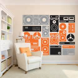 popular wall decal buy cheap lots from china electric guitar stickers music art
