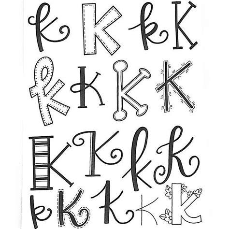 K Letter Doodle letter k lettered alphabet lettering ideas