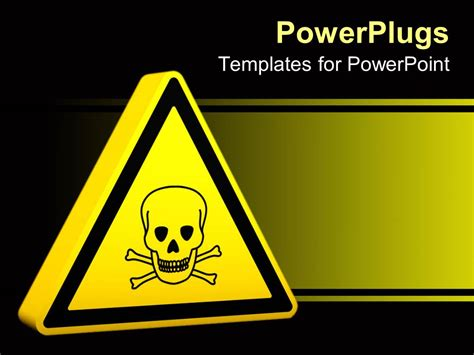 Powerpoint Template Yellow Hazard Sign With Skeleton 9013 Safety Templates Free