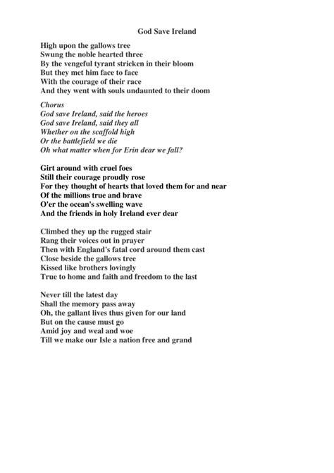 God Save Ireland lyrics – getcrackingguitar