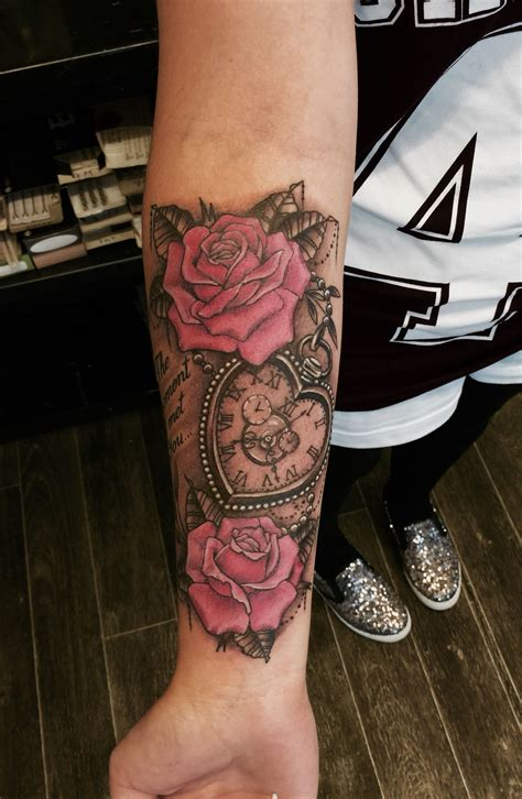 love heart and roses tattoos shaped pocket and roses by dzeraldas