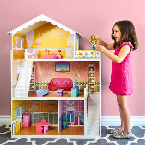 best dollhouse dolls best choice products large childrens wooden dollhouse fits