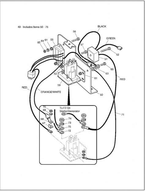 jacobsen cart wiring diagram ezgo brake system diagram