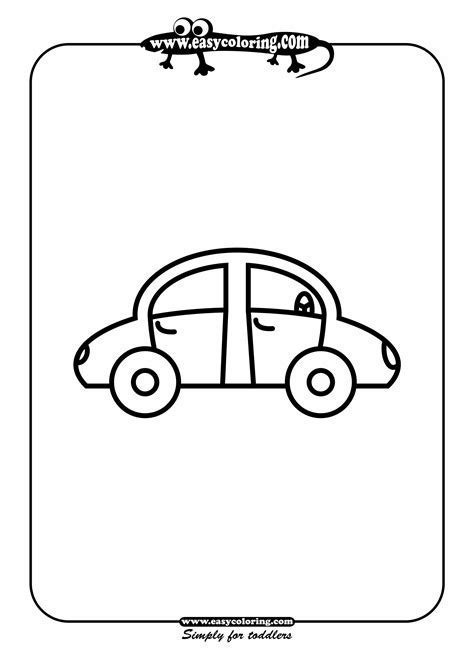easy coloring pages of cars car one simple cars easy coloring cars for toddlers