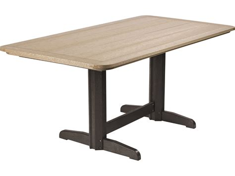 rectangular pedestal dining table c r plastic generation 72 x 36 rectangular double