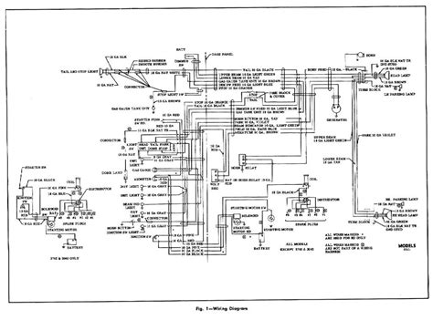 1954 chevrolet truck models wiring diagrams wiring diagrams